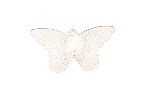 Laser Charm, Radian Butterfly Rhodium-Finished Brass 14x24mm sold per pack of 20 (2pack bundle), SAVE $1