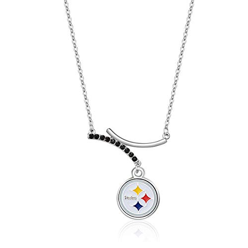 (Pro Specialties Group NFL Pittsburgh Steelers Dual Infinity Necklace)