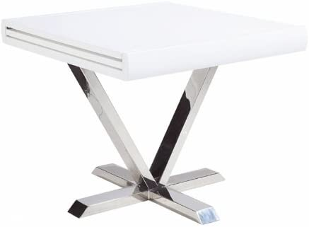 Table Carree Extensible Blanc Laque Novo Amazon Fr Cuisine Maison