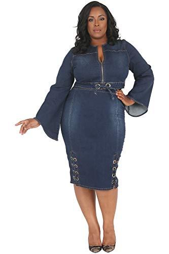 7ce00e224243a Poetic Justice Plus Size Curvy Women s Drawstring Waist Indigo Cropped  Jacket