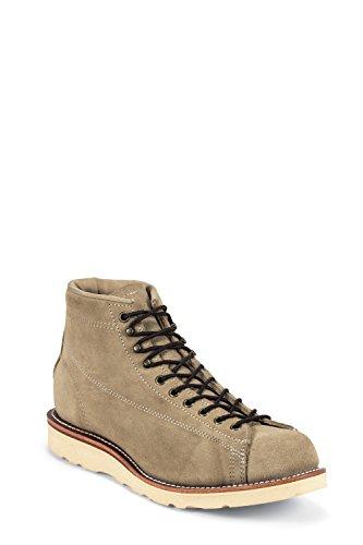Chippewa 1901M36 Herren Leder Boots braun, Sand Suede mit Poron Einlegesohle-Vibram Christy Kreppkeiksohle Braun