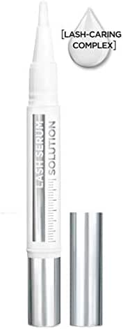 L'Oreal Paris Makeup Lash Serum Solution, Denser Thicker-Looking Lash Fringe in 4 Weeks, Formulated with Lash Caring Complex containing Hyaluronic Acid, 0.05 fl. oz.