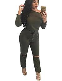 Aro Lora Women's One-shoulder Casual Wear Ripped Sport...