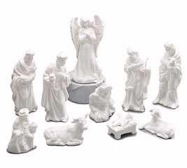 Burton & Burton White Porcelain Miniature