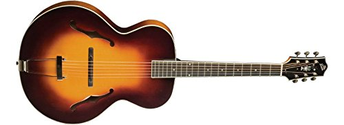 5 String Bass Tobacco Sunburst (The Loar LH-700-VS Deluxe Hand-Carved Archtop Guitar)