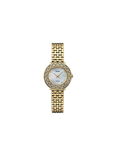 Seiko Women's 'TRESSIA' Quartz and Stainless-Steel Casual Watch, Color Gold-Toned (Model: SUP374) (Seiko Gold Watch Toned Womens Steel Stainless)