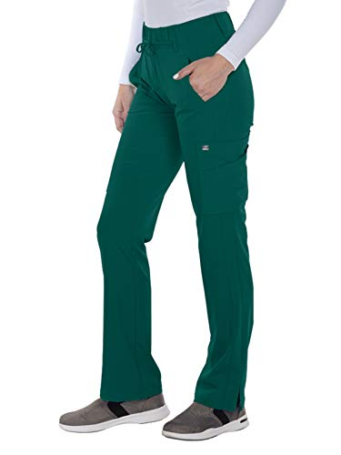 (Grey's Anatomy Signature 2218 Trouser Cargo Pant Hunter Green L)