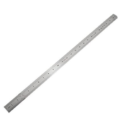 Acero inoxidable eDealMax medición regla larga recta, 24, 6 ...
