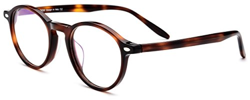 HEPIDEM Women Vintage Round Optical Glasses Frame Spectacles with Acetate 9103 - Online Glasses Store
