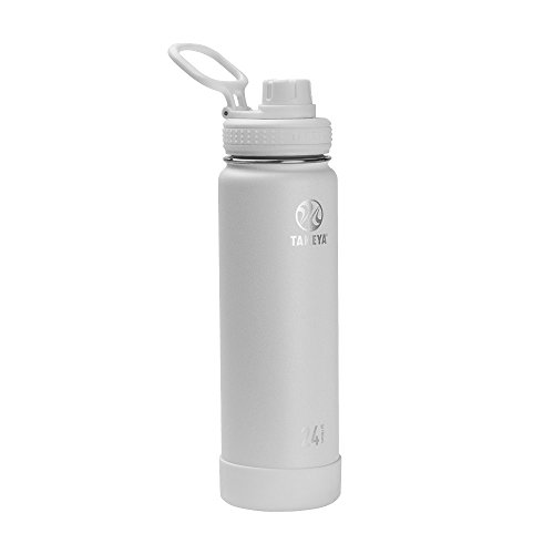 Takeya Actives Insulated Stainless Water Bottle with Insulated Spout Lid, 24oz, Arctic