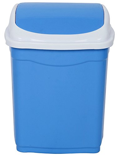 ARISTO Plastic Swing Lid Small Dustbin, 28 L (Standard Size, Blue) Price & Reviews