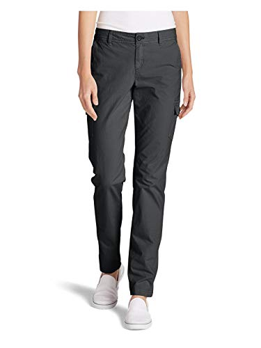 Eddie Bauer Women's Adventurer Stretch Ripstop Cargo Pants - Slightly Curvy,Dk Smoke (Grey),14 Regular ()
