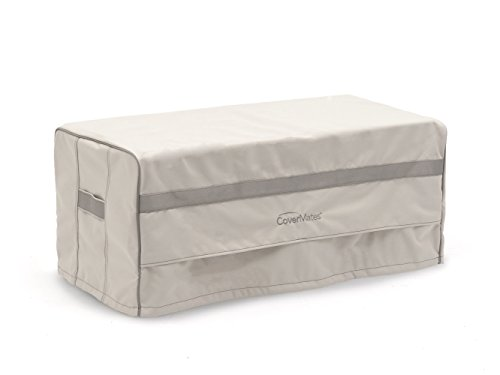 Covermates – Rectangular Firepit Cover – 48W x 28D x 18H – Prestige Collection – 7 YR Warranty – Year Around Protection - Stone - Covers Smoker Covermates