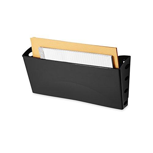 Rubbermaid 18573 Ultra Hot File Single Pocket Wall File, Black, Legal (Rubbermaid Mounting File Folder)