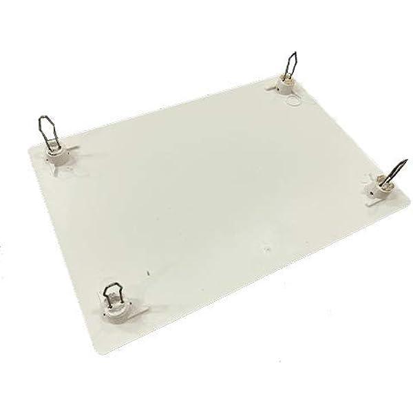 Tapa de caja de registro rectangular de 160x100mm Blanco: Amazon.es: Bricolaje y herramientas