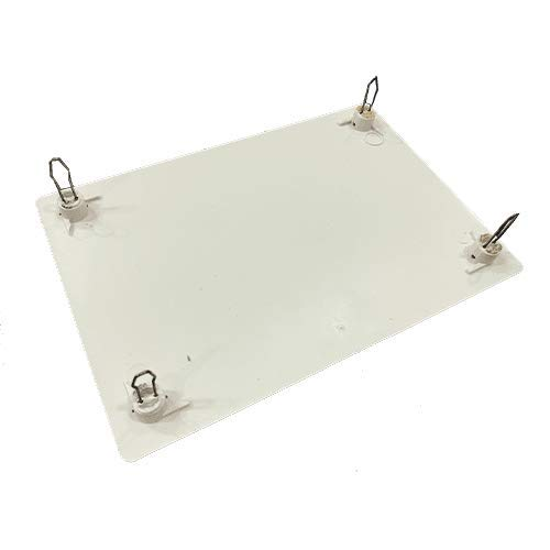 Tapa de caja de registro rectangular de 160x100mm Blanco