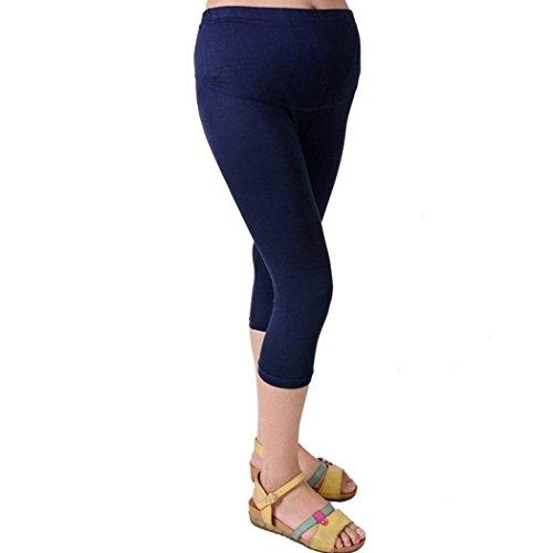 Donna Yasminey Premaman 4 Monocromo Gravidanza Dunkelblau Pantaloni Giovane Tempo Gravidanza Premaman Pantaloni Comodo 3 Grazioso Pantaloni Estivi Leggins Women Leggero Pantaloni Libero Pantaloni dErqcrp