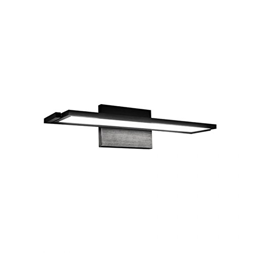 (WAC Lighting WS-6718-27-BK Line LED Bathroom Vanity and Wall Light, Black)