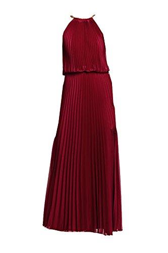 Burgundy Halter 2 Ruffle Aqua Dress 4zSAndqwE