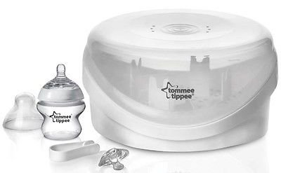 Tommee Tippee Closer to Nature Microwave Baby Bottles Steam Steriliser New