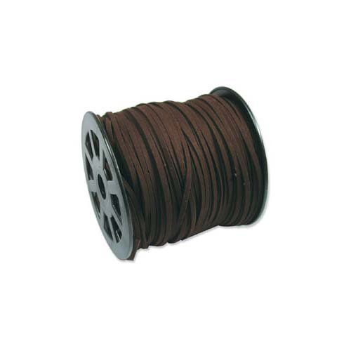 Price comparison product image Beadaholique XCR-43205 Dark Brown Faux Leather Suede Cord Bulk Spool,  100 yd