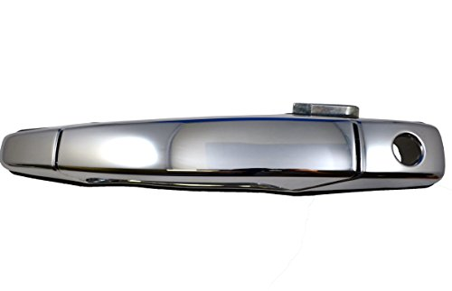 PT Auto Warehouse GM-3545M-FL - Outside Exterior Outer Door Handle, Chrome - Driver Side Front (07 Avalanche Door Handles compare prices)