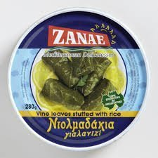 Zanae - Mediterranean Delicatessen - Vine Leaves Stuffed with Rice 10oz can - Pack of 2 by Zanae