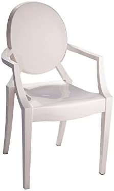 Mod Made Louie Arm Chair, Ivory