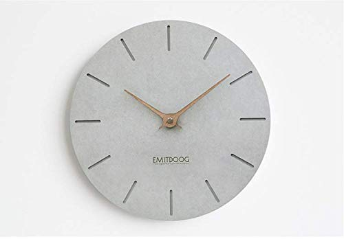 HDR Concrete Wall-Clock Series Silence Modern Wall Clock Perfect for Home or Office – 12 Diameter Type B
