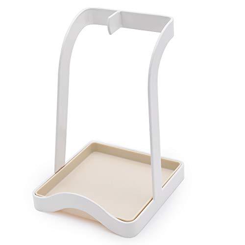 Borsong Lid and Spoon Rest, Utensils Lid Holder Spoon Holder Lid Rest Lid Shelf Kitchen Utensils Holders (Spoon Rest-White)