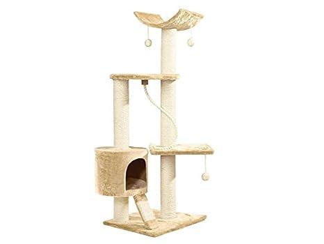 Rascador para gatos grande, color beis (70 x 120 x 55 cm) cf96390: Amazon.es: Productos para mascotas