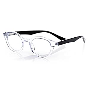 eyebobs TV Party, Clear and Black Reading Glasses - SUPERIOR QUALITY- because your eyes deserve the good stuff