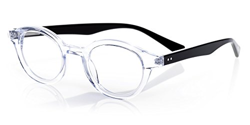 eyebobs TV Party, Clear and Black Reading Glasses - SUPERIOR QUALITY- because your eyes deserve the good - Nyc Glasses Reading