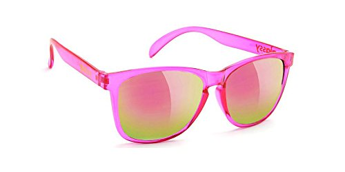 Glassy Sunglasses Glassy Deric Sunglasses - Transparent Pink/Pink Mirror Cancer Hater (Square Susan Mirror)