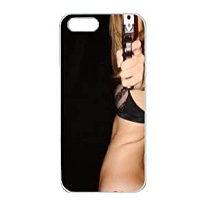 iPhone 5 Great for designing your own pc white case,Designed Specifically Compatible with I'd rather pull the trigger in your face