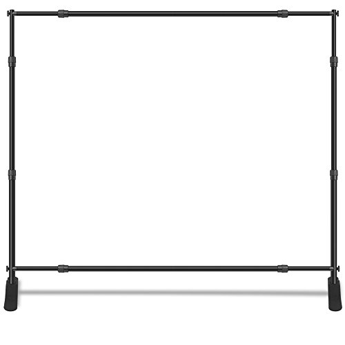 (Wall26 Professional Large Tube Telescopic Tube for Photography Backdrop | Trade Show Display - 10'x8')