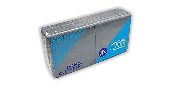 DON CLEVER SERVILLETA 20X20 Gris/Caja ECONOMICA 32 Paquetes / 2 ...