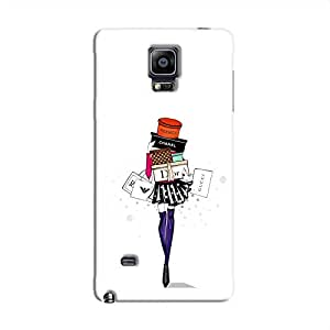 Cover it up Shopping Girl Samsung Galaxy Note 4 Hard Case - White