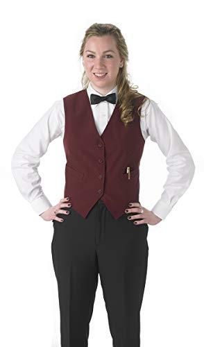 Henry Segal Women's Tailored Uniform Basic Vest, Burgundy Medium