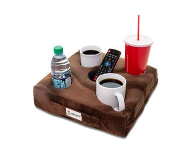 Cup Cozy Deluxe Pillow (Brown) As Seen on TV -The world's BEST cup holder! Keep your drinks close and prevent spills. Use it anywhere-Couch, floor, bed, man cave, car, RV, park, beach and more! (Sectional Sofas Cool)