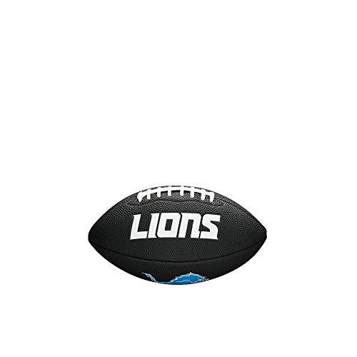 NFL Team Logo Mini Football, Black - Detroit Lions