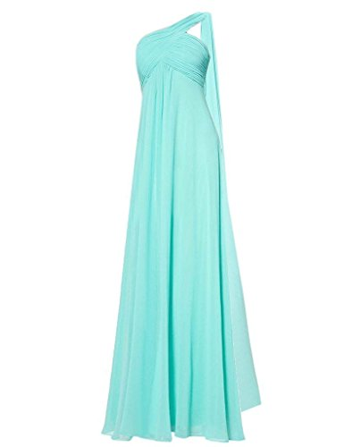 Dress for Damen Lavender Shoulder One Blue Bridesmaid Chiffon Weddings Ice Fanciest Lang S0YBgxBn