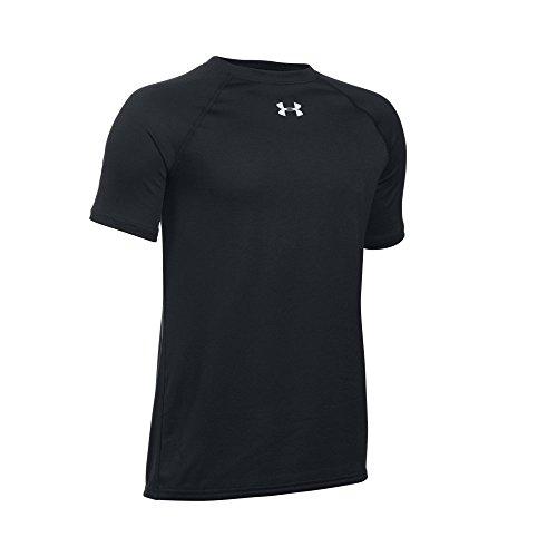 Under Armour Boys' Locker Short Sleeve T-Shirt, Black/White, Youth Large