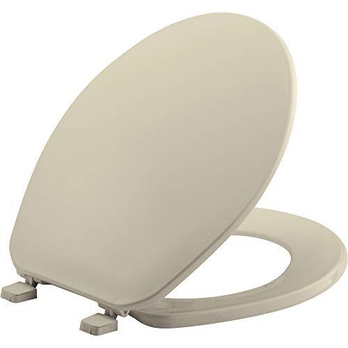 (BEMIS 70 006 Toilet Seat, ROUND, Plastic, Bone)