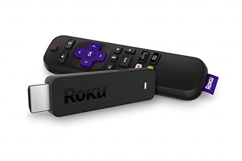 (Roku Streaming Stick | Portable, Power-Packed Player with Voice Remote with TV Power and Volume (2017) (Renewed))