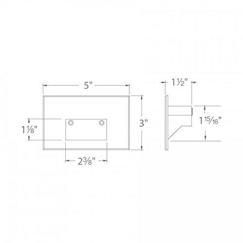 WAC Lighting 4011-27BK WAC Step & Wall 5'' LEDme 12V Horizontal Step and Wall Light 2700K Warm White in Black Aluminum