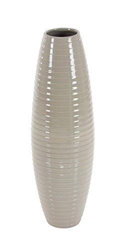 (Deco 79 40543 Barrel-Shaped Glazed Ceramic Vase, 24