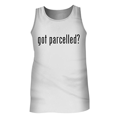 Tracy Gifts Got parcelled? - Men's Adult Tank Top, White, - Merchandise Parcel Service United