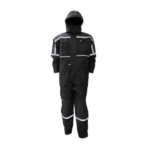 (Dickies Mens Waterproof Padded Coverall (M) (Black) )