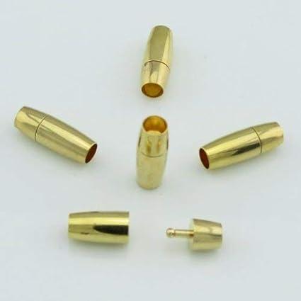 zum Schmuck//Kette//Armband schlie/ßen 10 St/ück Bacabella 15102 Steckverschluss Innendurchmesser 2mm gold